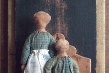 Primitive Dolls and Fabrics