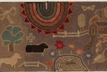 antique hooked rugs