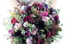 Flowers to Hold - Purple & Blue Bouquets / Wedding bouquets in purple, plum, violet, indigo and shades of blue / by Dandie Andie Floral Designs