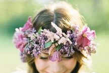 Flower Crowns / Flowers to wear - flower crowns, head wreaths, flower halos / by Dandie Andie Floral Designs