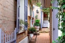 Outdoor Color and Design / Decorating your outside spaces