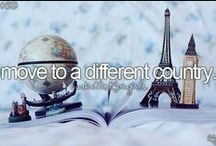 Travel Bucket List / 100 (traveling related) things I want to do before I die.