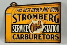 Vintage Gasoline, Oil and Auto Signs / Gasoline Signs