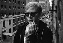 Andy Warhol (1928-1987) / Andy Warhol (born Andrew Warhola; August 6, 1928 – February 22, 1987) was an American artist who was a leading figure in the visual art movement known as pop art. His works explore the relationship between artistic expression, celebrity culture, and advertisement that flourished by the 1960s.