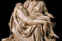 Art of Michelangelo / Michelangelo Buonarroti(Caprese,6 marzo1475–Roma,18 febbraio1564) è stato unoscultore,pittore,architettoepoetaitaliano.  Protagonista delRinascimento italiano, fu riconosciuto già al suo tempo come uno dei maggiori artisti di sempre.  Fu nell'insieme un artista tanto geniale quanto irrequieto. Il suo nome è collegato a una serie di opere che lo hanno consegnato alla storia dell'arte, alcune delle quali sono conosciute in tutto il mondo.