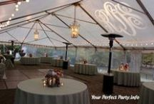 Tent Beauty! / Transform your wedding tent into a beautiful venue!
