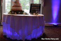 Table Underlighting / A beautiful way to draw attention to special tables. Great for cake and head tables!
