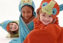 The Rainforest Collection / Towels for kids in vibrant fiesta colors made with 100% certified organically grown cotton.