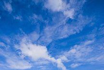 blauw de kleur van de lucht