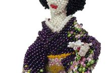my beadwoven dolls / wireless, only seed beads and fishline