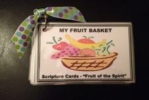 """""""My Fruit Basket"""" Scripture Cards"""
