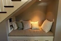 Hidden Space Ideas / This board will show you some of the most unique and clever space saving ideas.  When you browse through the pins you  will see use of space that is so often unused. Several DIY money saving tips.