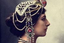 """MATA HARI / Margaretha Geertruida """"Margreet"""" Zelle MacLeod (7 August 1876 – 15 October 1917), better known by the stage name Mata Hari, was a member of the Frisian minority from the Netherlands, and was an exotic dancer and courtesan who was convicted of being a spy and executed by firing squad in France under charges of espionage for Germany during World War I. / by Daisy A Castellanos"""