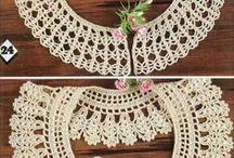 Cuellos y canesus de crochet