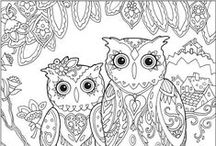 Adult Coloring Pages and Zentangles