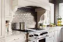 Decor | Fab Kitchens / kitchen design inspiration, Foodie Paradise, contemporary decor and modern appliances... plus a few vintage pieces that I love. fab kitchen and foodie paradise. My dream kitchen. gorgeous tiles, lighting, counters, flooring... #kitchens #kitchen #interior-design #counters #counter-tops #tiles #lighting #windows