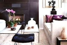 Decor | Living Room / Interiors, Living room interior design inspiration. Contemporary and Hollywood Regency. Decorating sitting area, arrangements, couches, pillows, windows, ceilings, colors, fabrics, wall art. coffee table vignettes, wall vignette. Decor, home, architecture, modern, romantic, personal, creative. #coffee-table #couches #living-room #den #interior-design #modern #romantic