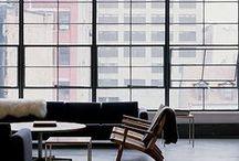 Decor | Loft Life Interiors / Apartment and Loft inspirations. Pied-a-terr interior design. Living room. High ceilings. Windows. Home decor. Urban chic. City Life. #urban #loft #lofts #windows #living-room #apartments
