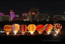 Great Reno Balloon Races / Annual Hot Air Balloon Race - Magical!  Reno, Nevada and around the Nation