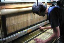 """工房/The Studio of Tatsumura Textile / Due to the change in lifestyle, it is said that the number of the weavers in """" Nishijin """", Kyoto decreased to several hundred now. We succeed in the fabulous Japanese textile in the form of  """" Art Textile """" not to run out of its culture and do manufacturing looking forward the next 100 years. 京都西陣にある織り屋さんは、今では数百にまで減少したと言われています。生活スタイルの大きな変化による結果です。 弊社は、日本の素晴らしい織物文化を絶やさぬよう、""""美術織物""""という形で継承し、これからの100年を見据えてモノづくりをしています。"""