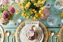 Table Toppers / Tablewares & Serveware to set the mood - from dinner parties & soirees to everyday meals & outdoor dining.  From eclectic, elegant & whimsical to country & rustic!