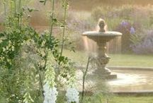 Garden fountain and water well