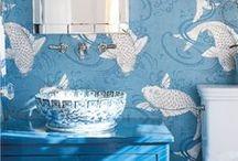 Wallpaper, Trompe l'oeil, Frescos, Wall Murals & Decor Fabrics / Walls and ceilings as artistic expression. Fabrics for home decor.