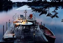 Dining Alfresco / Outdoor dinner parties, soirees & dining.