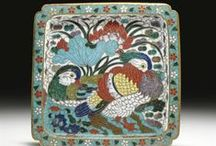 Cloisonné / The cloisonné enamel technique was most likely introduced into China during the Mongol Yuan dynasty (1279–1368). The earliest Chinese cloisonné pieces bearing a reign mark were made during the Xuande period (1426–1436)