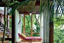 A Place of Respite / Private nooks for reading, writing, music, relaxing & rejuvenating
