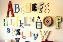 Decoração com Letras / Letters Decoration