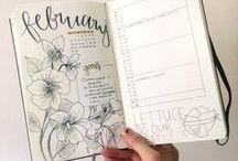 Bullet journal, lettering & doodles