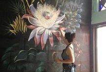 Wall Mural Inspiration / Wall mural inspiration combined with works originally painted by GreenRoots Design & Art Studio