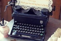 VINTAGE [ Typewriters ] / typewriters, vintage typewriter, vintage typewriters, typewriter props, photo props, film props, shop display, ideas for vintage typewriters, wedding props / by Anthi Leoni
