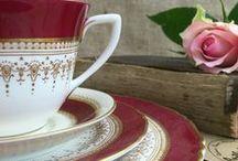 VINTAGE [ Tea + China + Trios ] / vintage china tea cups and saucers, china creamers and milk jugs, china sugar bowls, royal albert, royal worcester, wedding china, vintage for china tea parties, afternoon tea party