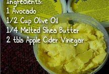 Recette pour Cheveux / Prendre soin de vos cheveux avec des recettes naturelles.   Take care of your hair with a natural recipes.
