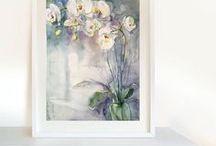 MarinaMarkizovaArt / Watercolor painting of Markizova Marina, flowers, fruits, botanical art