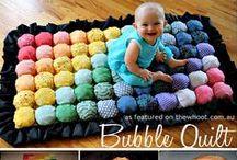 Quilts & Decken / Decken und Quilts ganz verschiedener Herstellungsarten