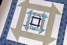 "Nested Churn Dash / Quilt Block Designs 24"" block"