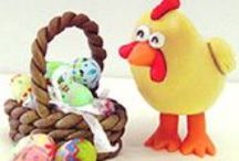 Valentine, Spring & Easter Crafts made with Makin's Clay® - The No Bake Polymer Clay® / Crafts, Jewelry and more made with Makin's Clay® for Valentines Day, Easter, spring, St. Patrick's Day and more