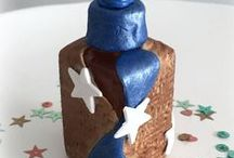 Makin's Clay® Bottle of Hope Projects - The No Bake Polymer Clay® / Bottles made for the Bottle of Hope program using Makin's Clay® or Makin's® Brand tools
