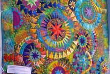 Quilts-Bright & Colorful / These quilts are whimsical and cheerful. / by Julie Maginnis Reggiardo