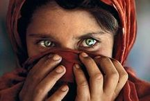 "Steve McCurry / He is an American photojournalist best known for his photograph, ""Afghan Girl"" that originally appeared in National Geographic magazine."