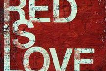 red czerwony