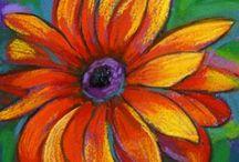 Flower and fruit art / Art for kids