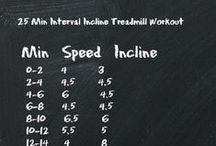 Treadmill Workouts / Interesting treadmill workouts, mixing up speed, inclines and intervals to make your workout fly by!