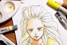 mekaworks / Pen | Pencil | Watercolor | Pencilcolor | Copic | Ink