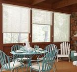Sun-room Window Treatments / Window treatments for screened in porches