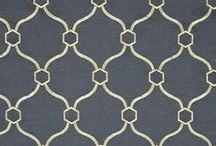 Charcoal & Gold - Living Room / Draperies, Fabric Roman Shades, Valances, Pillows, Custom Window Coverings
