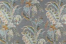 Orange, Blue, & Gray - Living Room / Draperies, Fabric Roman Shades, Valances, Pillows, Custom Window Coverings.